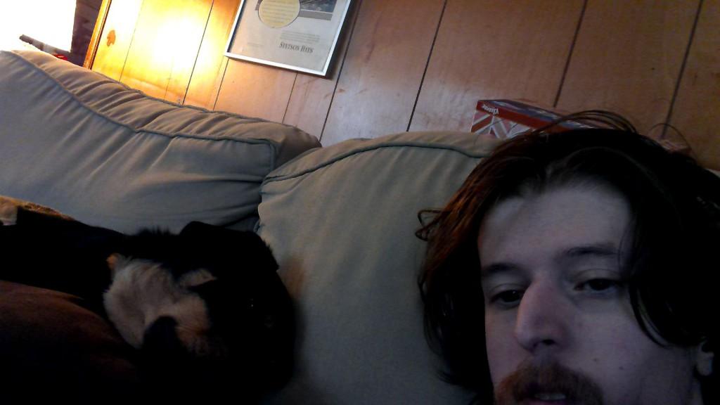 A sleepy Rebel and I on February 8th 2016 at 2:33 PM